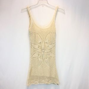 VOLCOM Tank Top XS Crocheted Both Sides